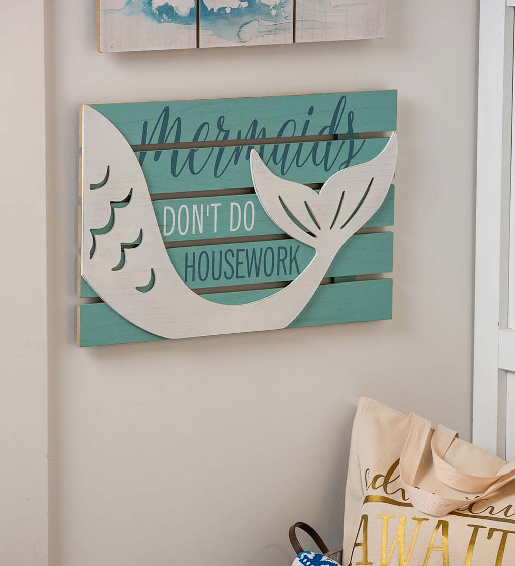 Mermaids Don't Do Housework Wall Art