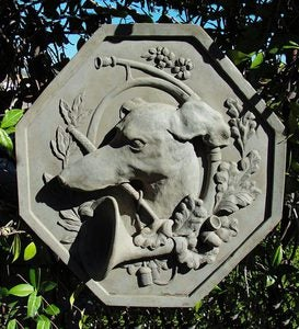 Greyhound Cast Stone Plaque