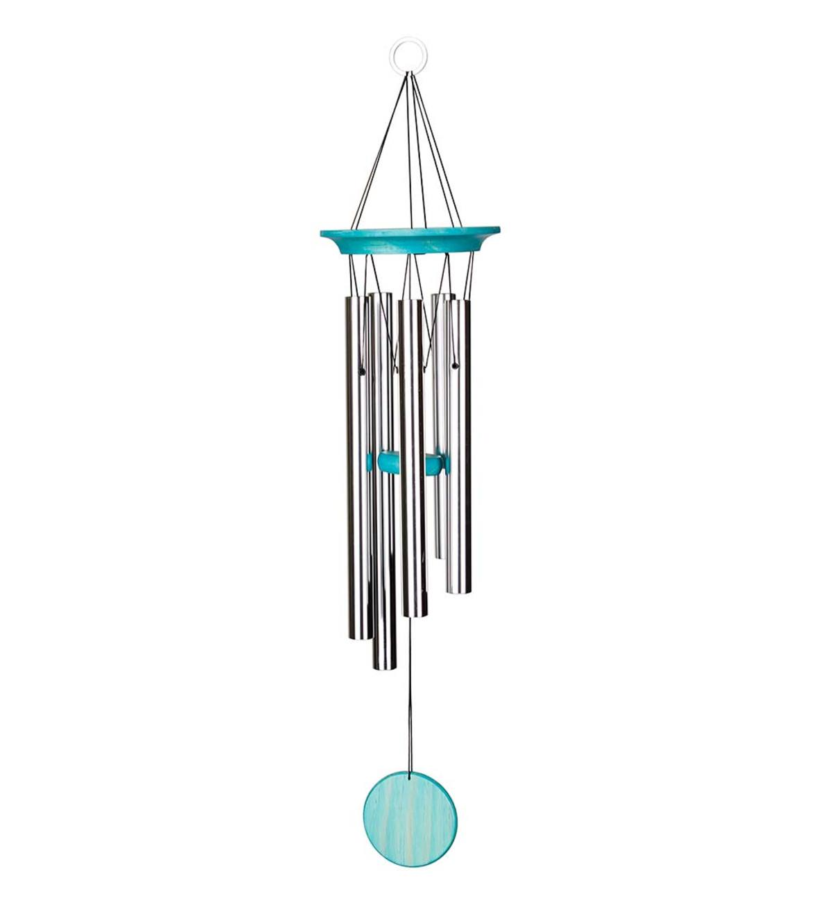 Turquoise-Colored Aluminum Garden Chime
