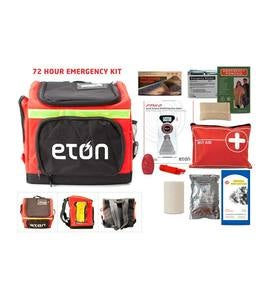3-Day Emergency Kit with Multi-Function Radio, Food Ration, First-Aid Kit, and More in Convenient Carry Case