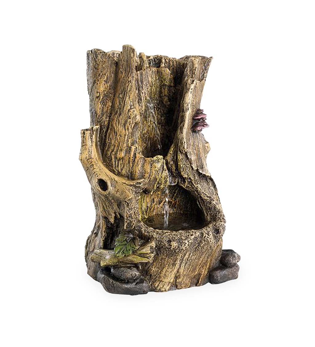Tree Trunk Indoor/Outdoor Electric Water Fountain