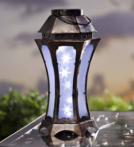 Metal Sparkling Lights Solar Lantern