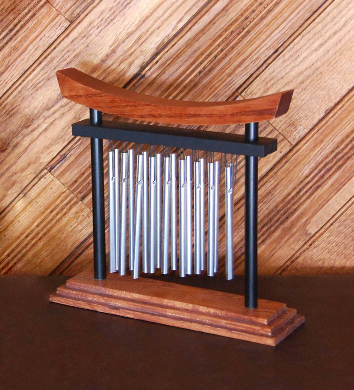 Shinto-Inspired Wood and Aluminum Tranquility Chime