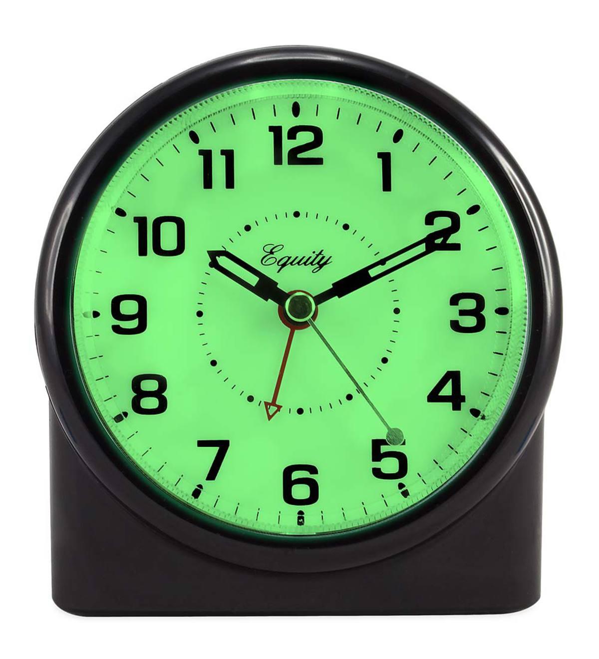 Backlit Analog Alarm Clock   Wind and Weather