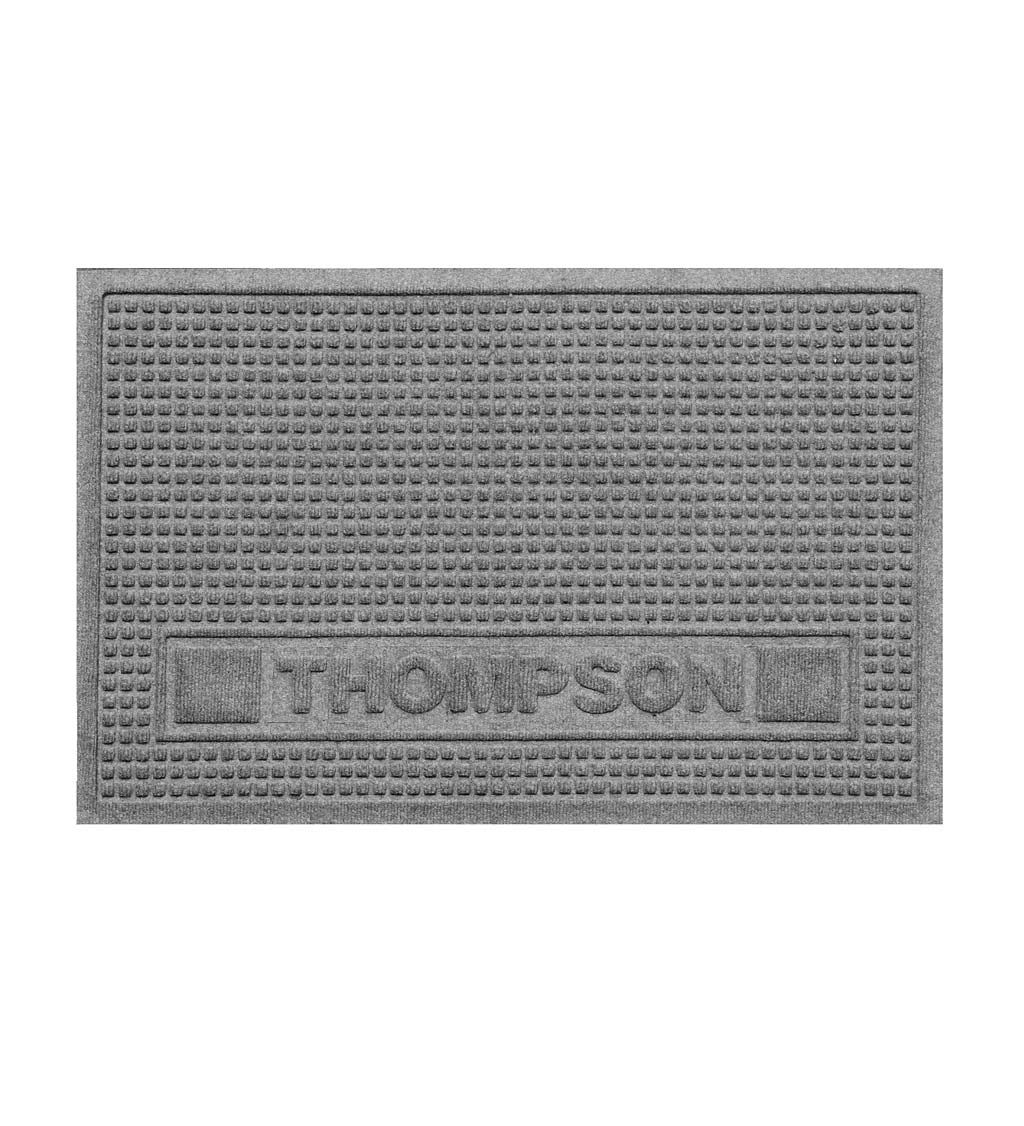 "Personalized Waterhog Squares Pet Doormat, 18"" x 28"" - Medium Gray"