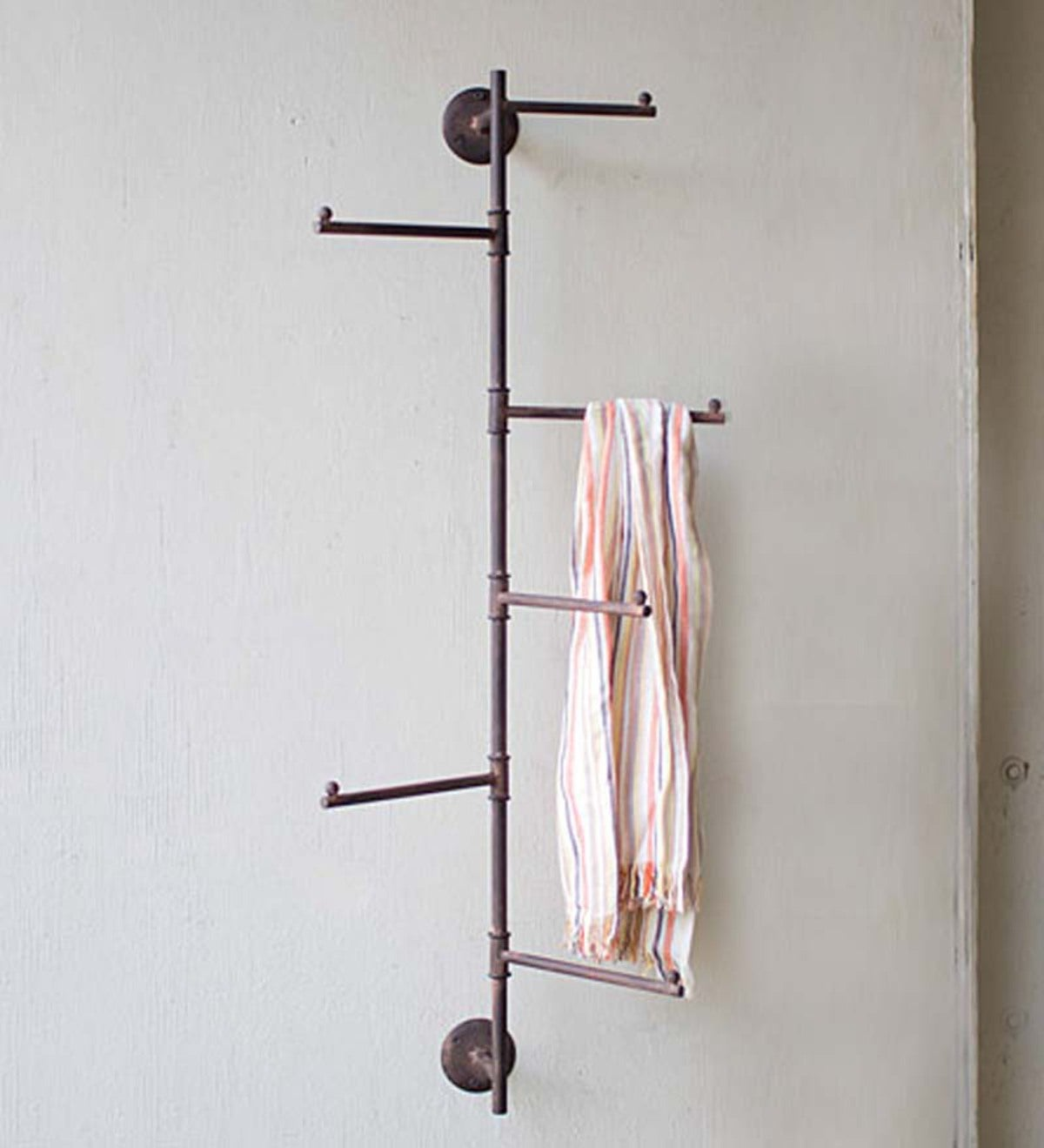 Long Metal Swivel Wall Rack