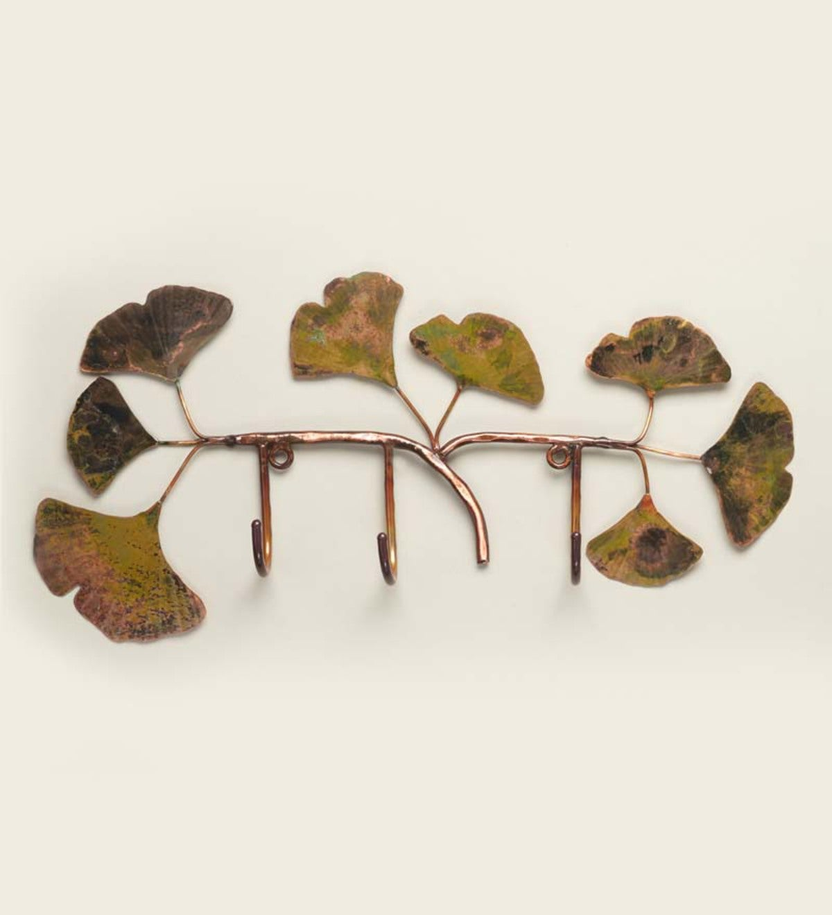 Handcrafted Copper Ginkgo Leaf Rack