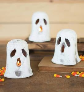 Clay Ghost Candle Holders, Set of 6