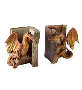 Fighting Dragon Bookends