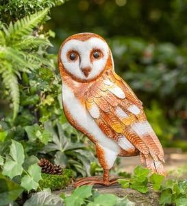Handcrafted Metal Barn Owl