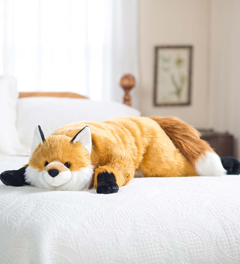Fuzzy Fox Fuzzy Plush Cuddle Animal Body Pillow