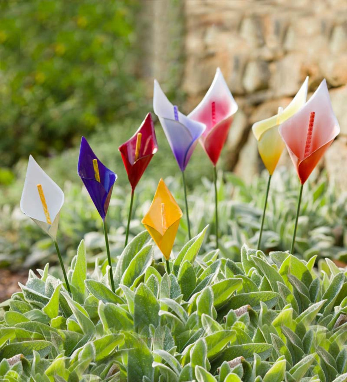 Small Calla Lily Metal Garden Stakes Set Of 4 Wind And Weather