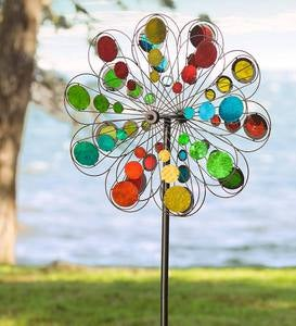 Multi-Colored Mirror Wind Spinner