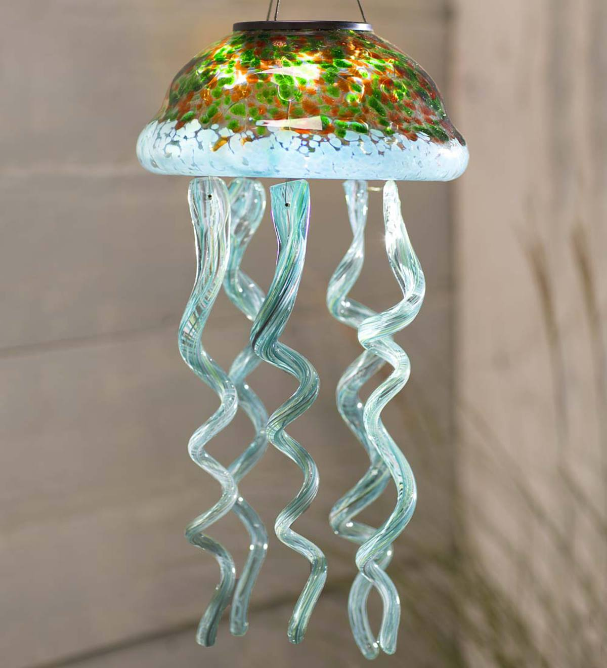 Solar Glass Jellyfish Mobile