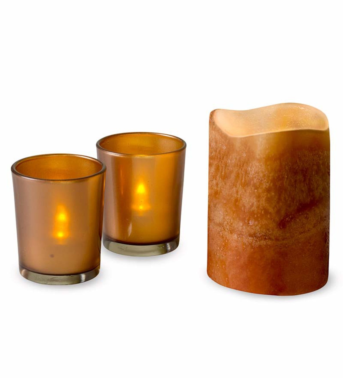 Flameless LED Pillar Candle Gift Set - Latte