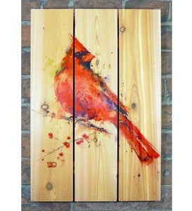 Handcrafted Red Cardinal Wood Wall Art by Gizaun Art™