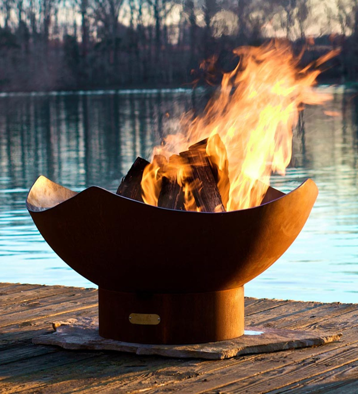 Handcrafted Manta Ray Iron Fire Pit