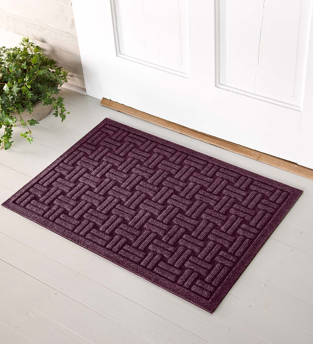 Waterhog Basket Weave Doormat, 2' x 5' - Bordeaux