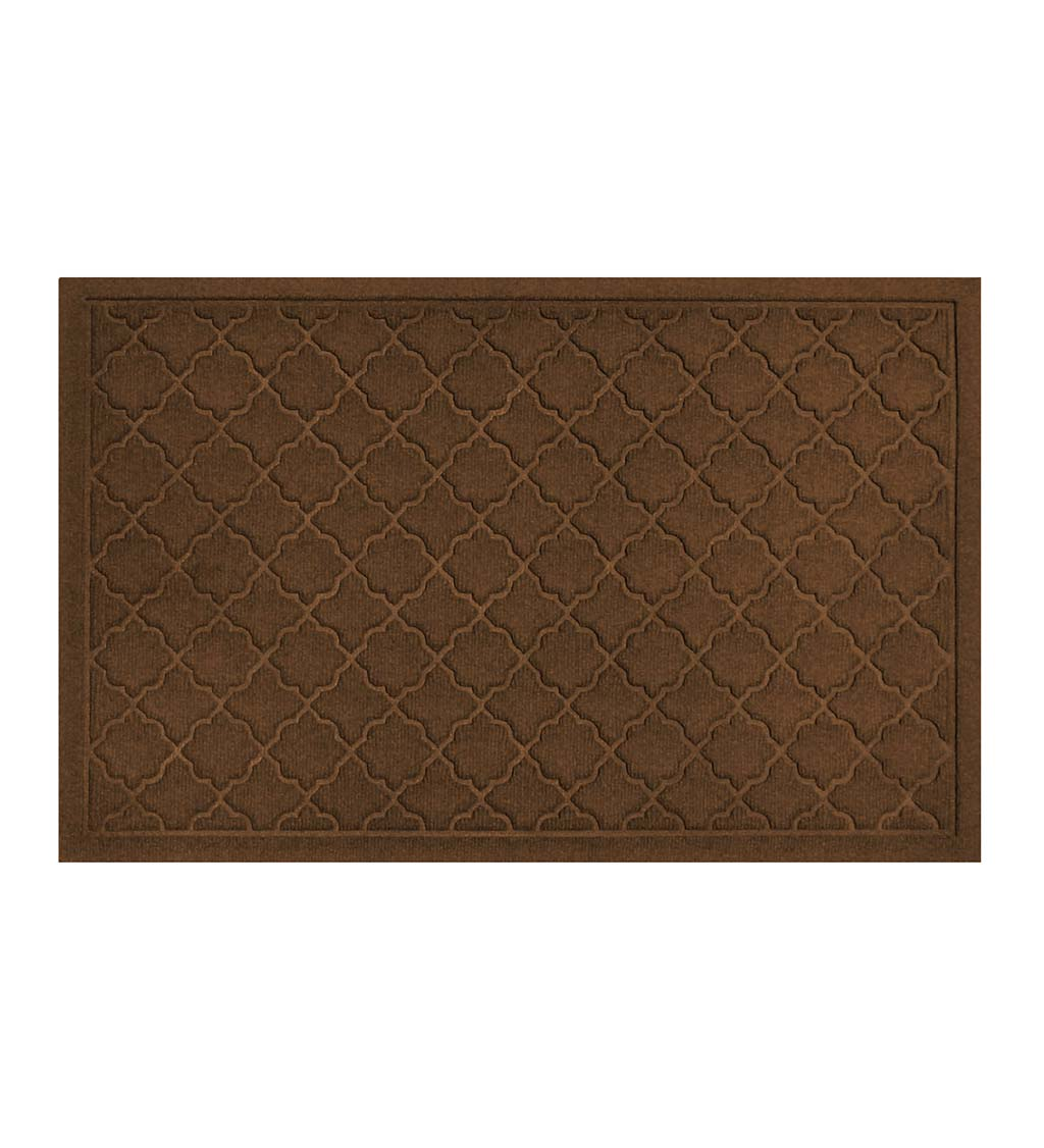 "Waterhog Indoor/Outdoor Geometric Doormat, 22"" x 60"" - Dark Brown"