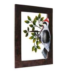 Pivoting Woodpecker Metal Wall Art