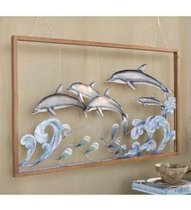 3-D Metal Dolphin Wall Art
