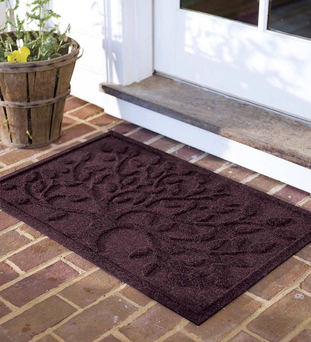 Waterhog Tree of Life Doormat, 2' x 3' - Bordeaux