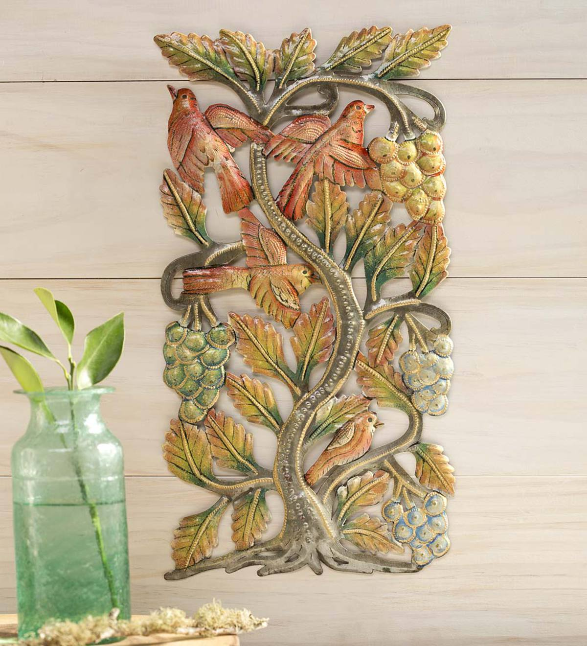 Tree with Birds Metal Wall Art