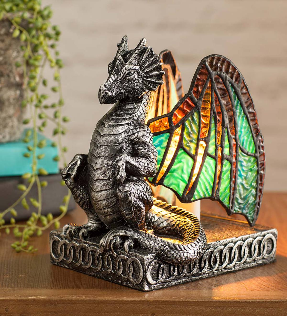 Lighted Stained Glass Dragon