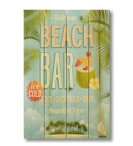 Handcrafted Beach Bar Wall Sign by Wile E. Wood Art™
