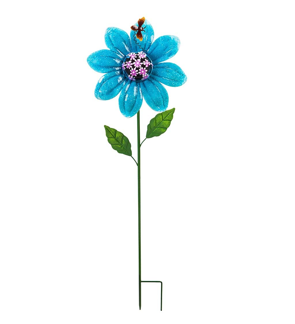 Secret Solar Flower Garden Stake - Purple