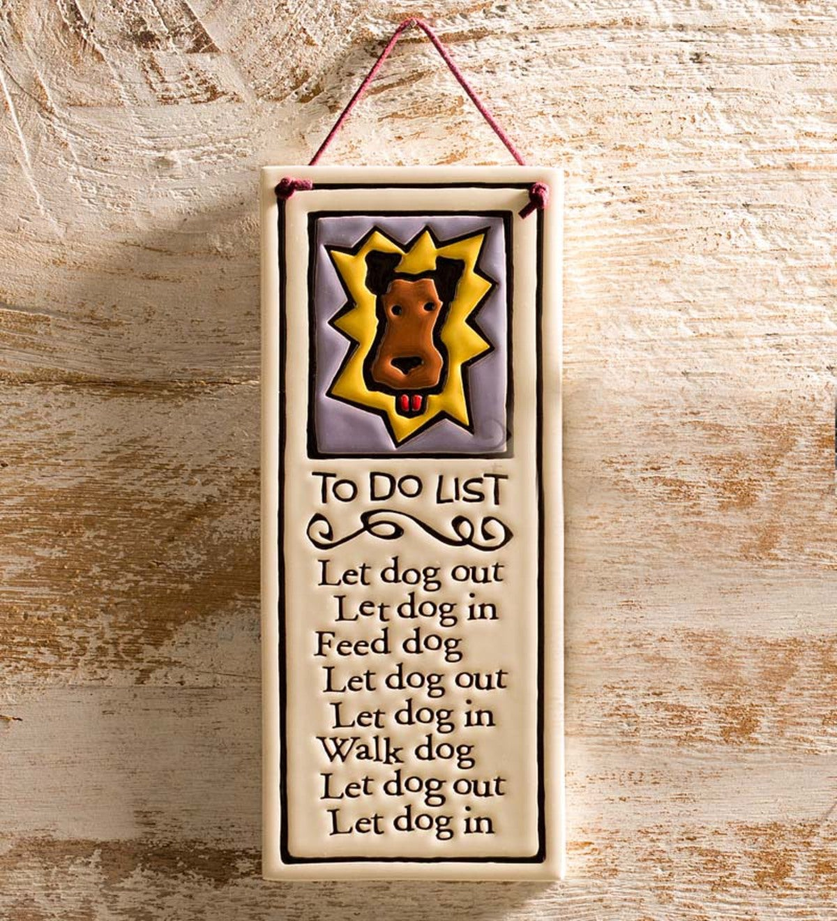 Dog To Do List Wall Plaque
