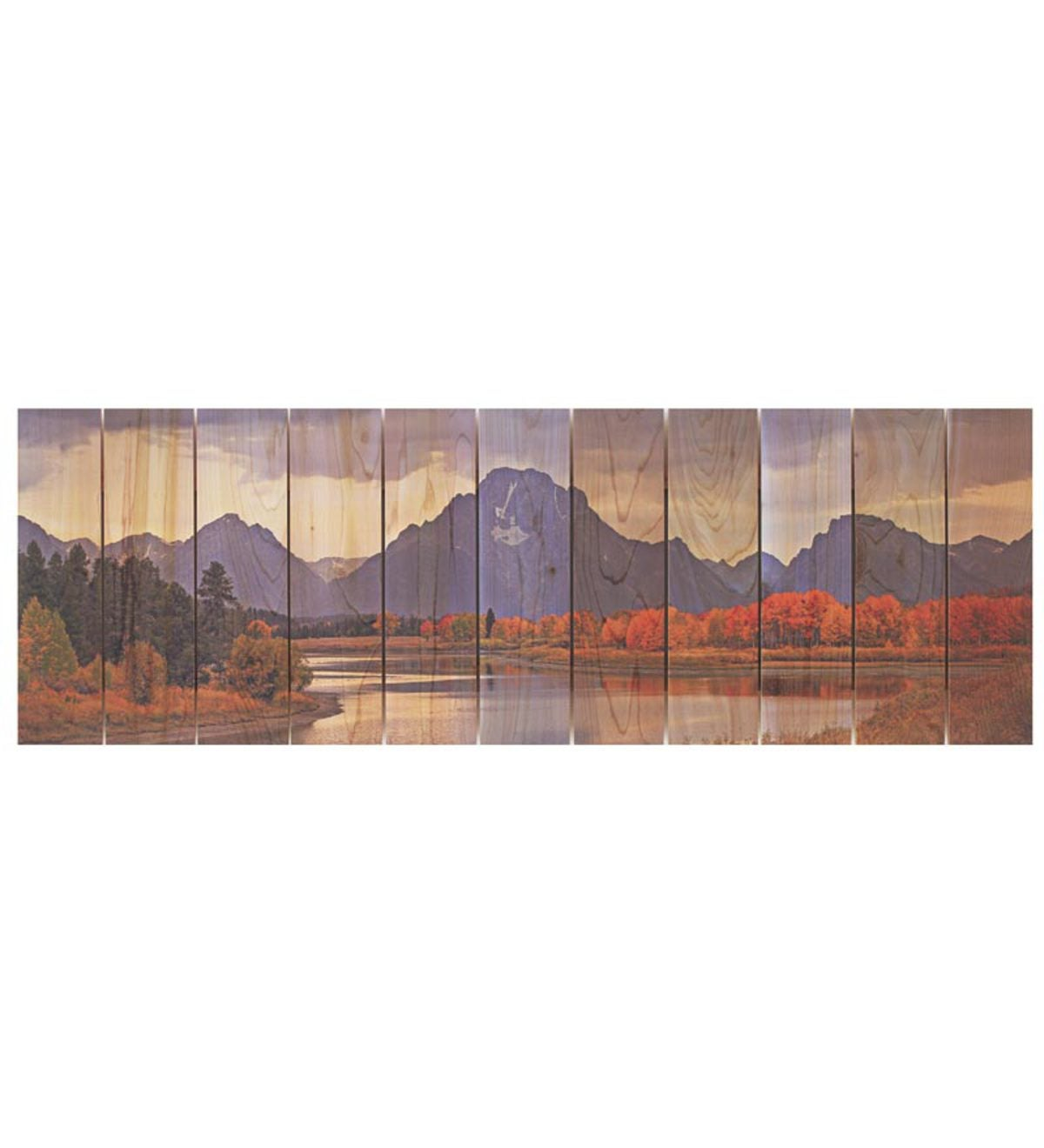 Mountain Paradise Panoramic Wall Hanging by Gizaun Art™