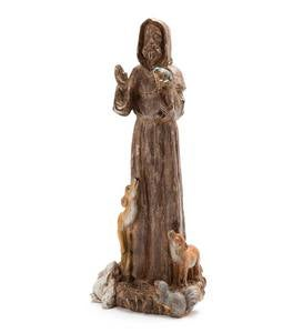 Wood-Finish St. Francis Statue