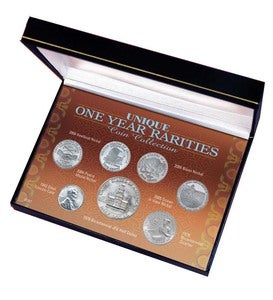 Collectable Unique One Year Coin Rarities Boxed Set