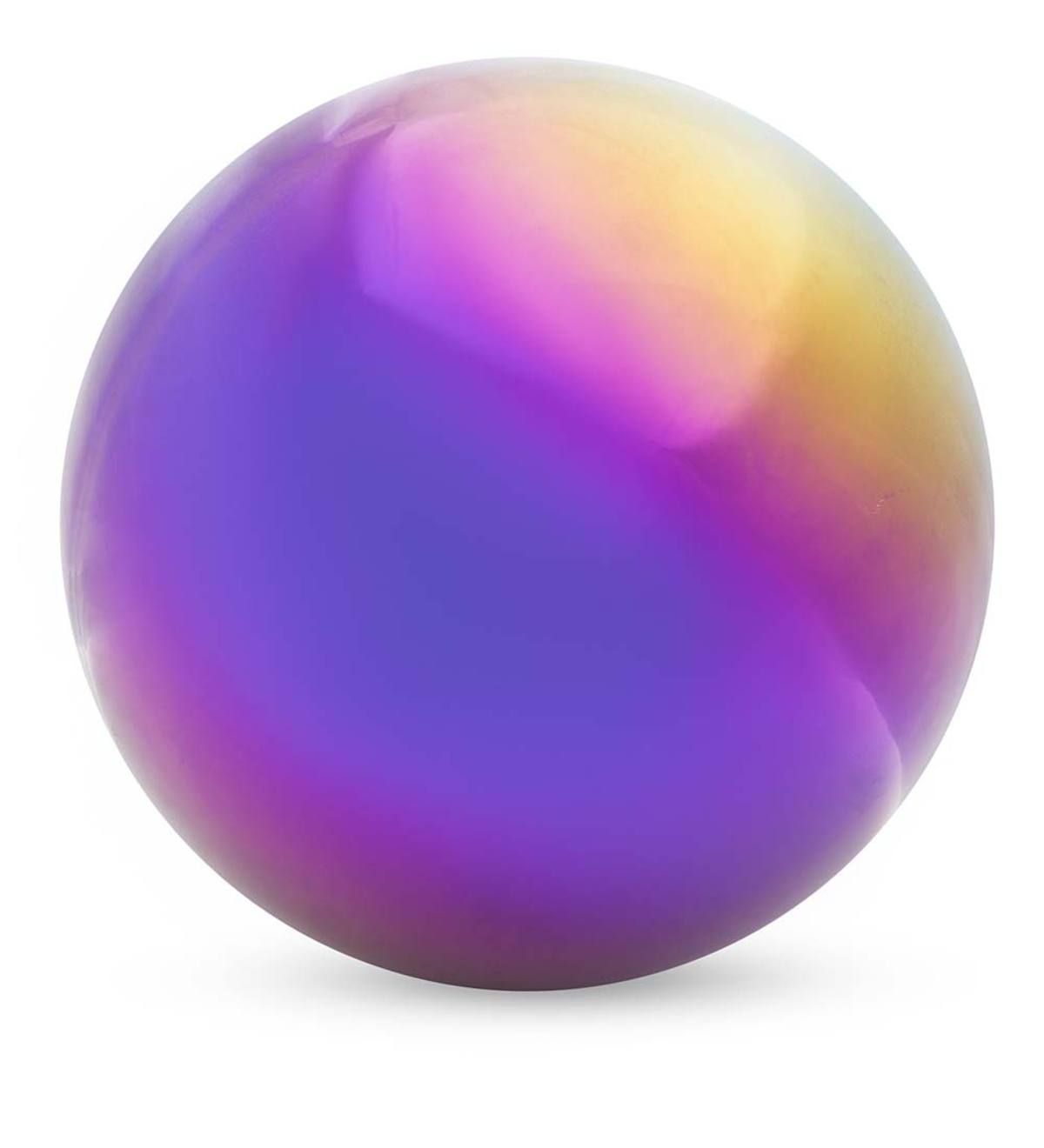 Rainbow Steel Gazing Ball