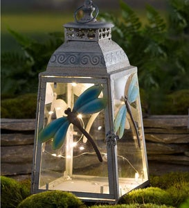 Large Metal Dragonfly Lantern