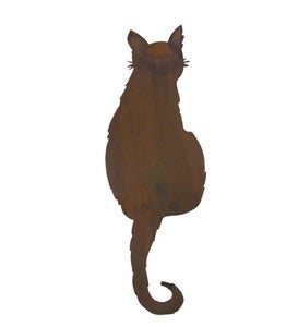 Handcrafted Metal Alley Cat Sculpture