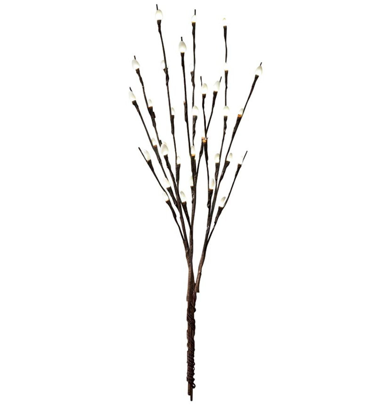 Pussy Willow LED Light Branches, Set of 3 - White