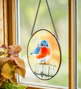 Mad Bluebird Suncatcher