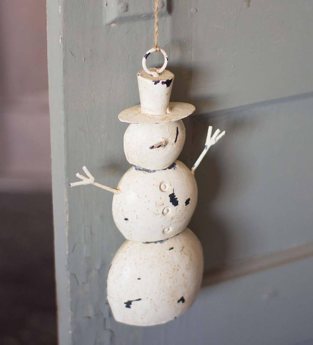 Iron Snowman Door Hanger for $10.97! (Use code ALBRADS79)