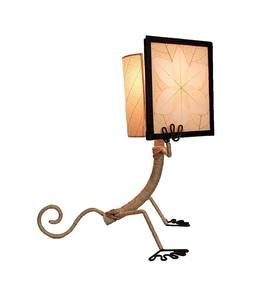 Handcrafted Reading Gecko Table Lamp - Multicolored