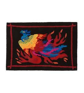 Colorful Phoenix Hook Rug
