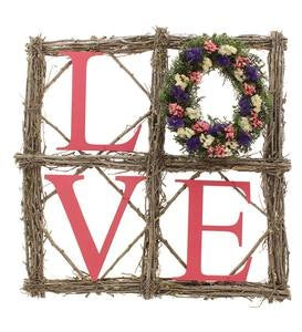 LOVE Sign with Miniature Wreath