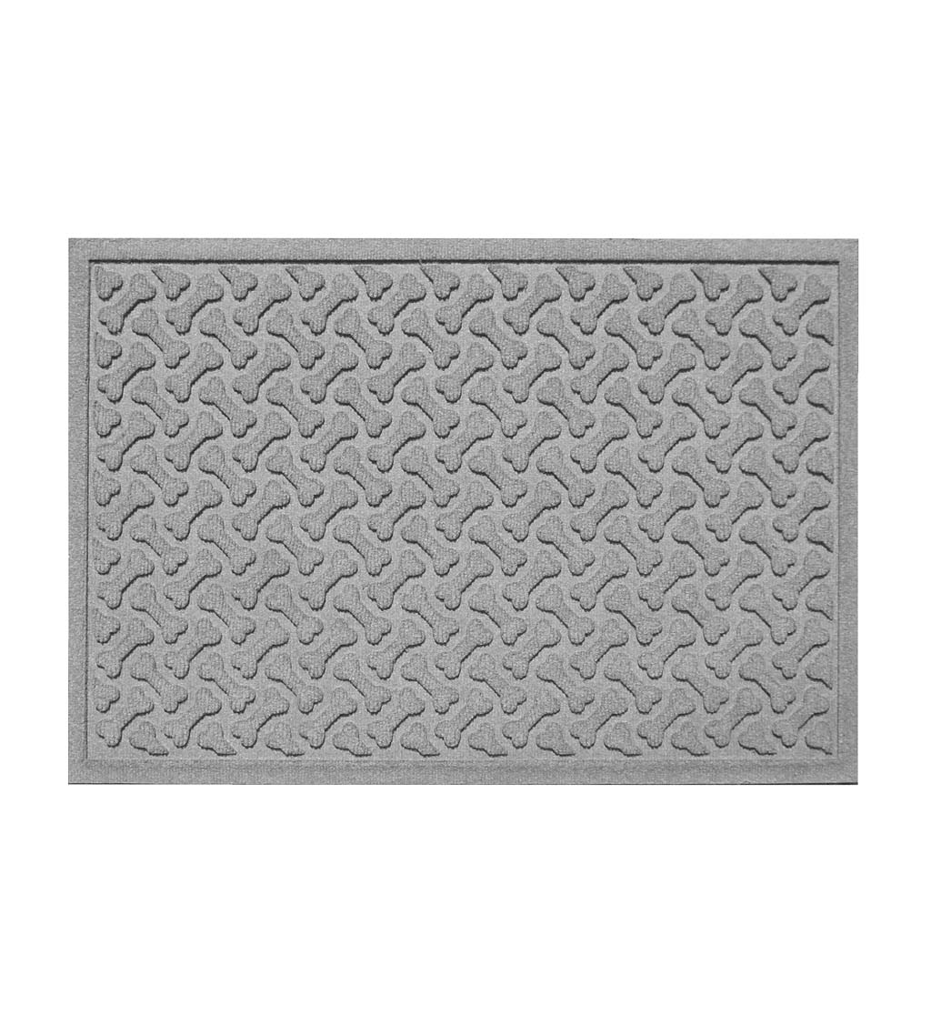 "Waterhogs Dog Bones Doormat, 18"" x 28"" - Medium Gray"