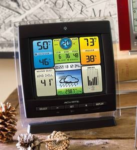 AcuRite Color Weather Station with 3-in-1 Remote Wireless Windspeed Sensor