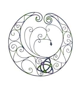 Celtic Moon Metal Wall Art
