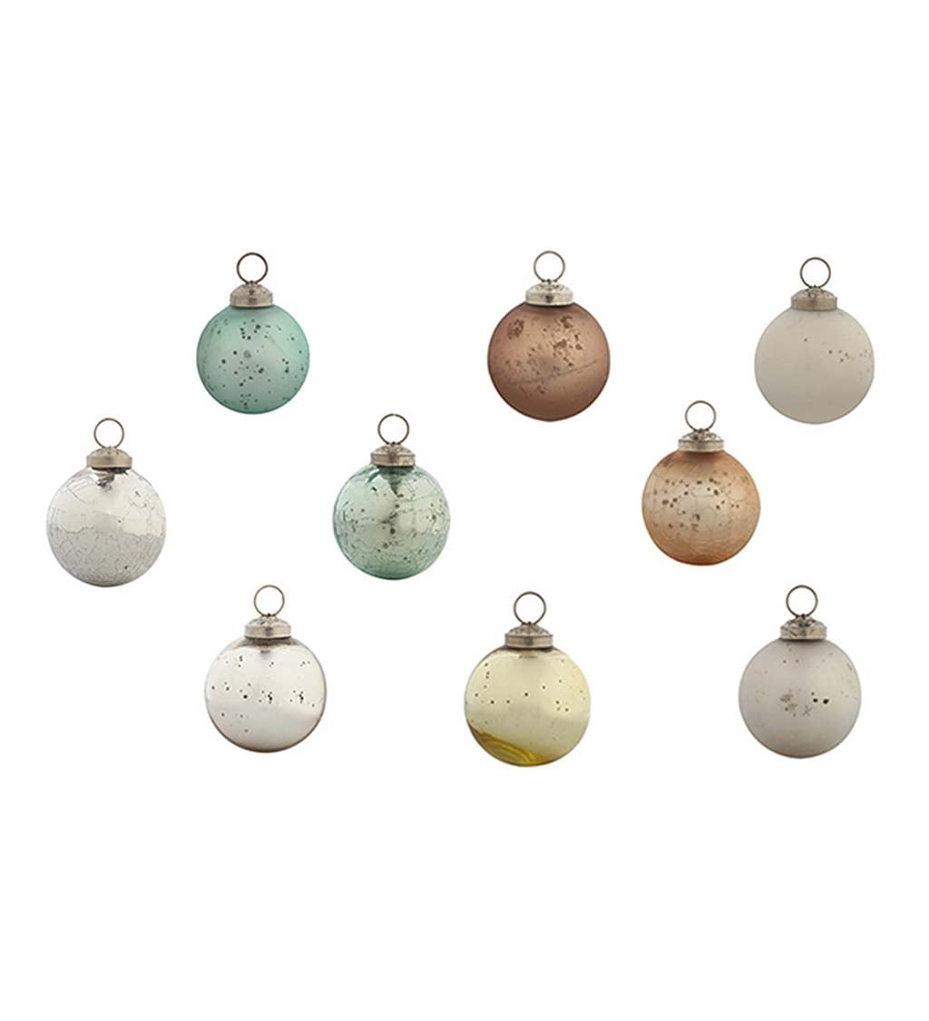 Mint Christmas Chic Round Ornaments, Set of 48