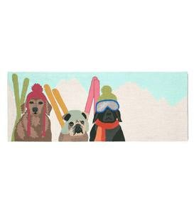 Ski Patrol Dogs Rug, 30&quote;W x 48&quote;L
