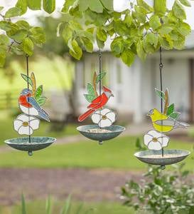 Stained Glass Goldfinch Bird Feeder