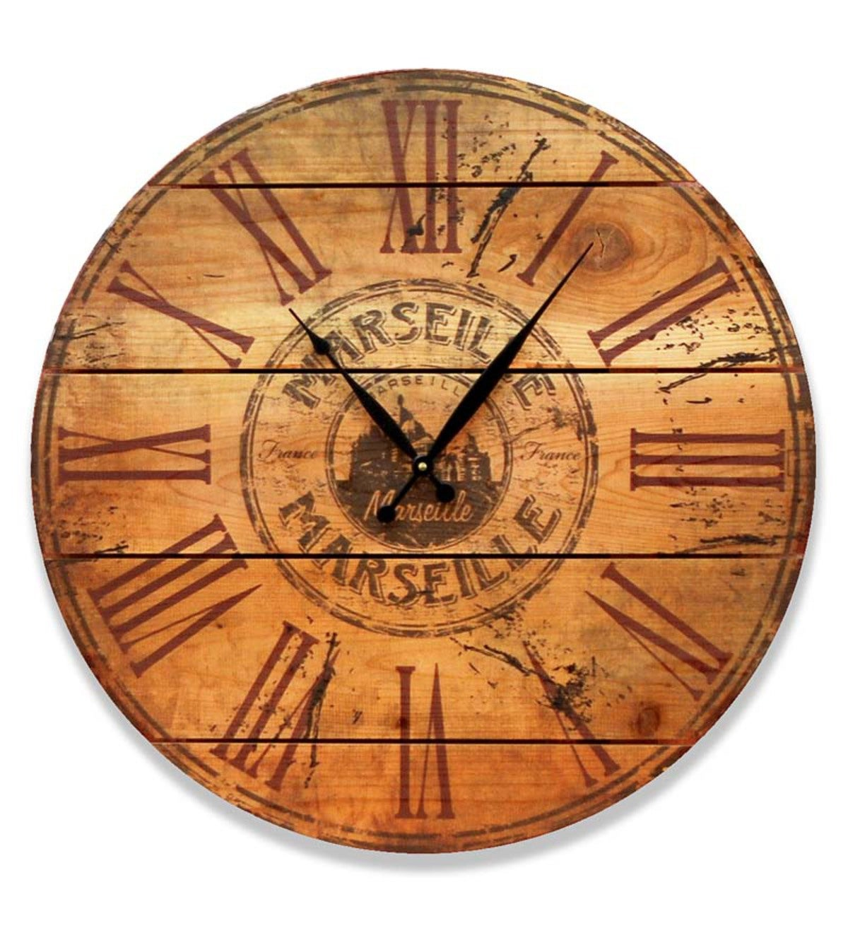Marseille Wooden Wall Clock Gizaun Art™